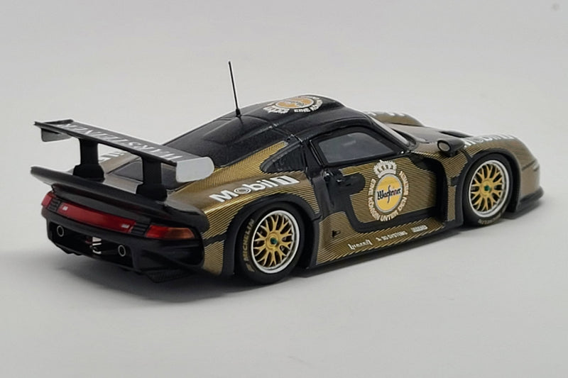 Porsche 911 GT1 Test Car | 1:43 Scale Model Car by Spark | Rear Quarter