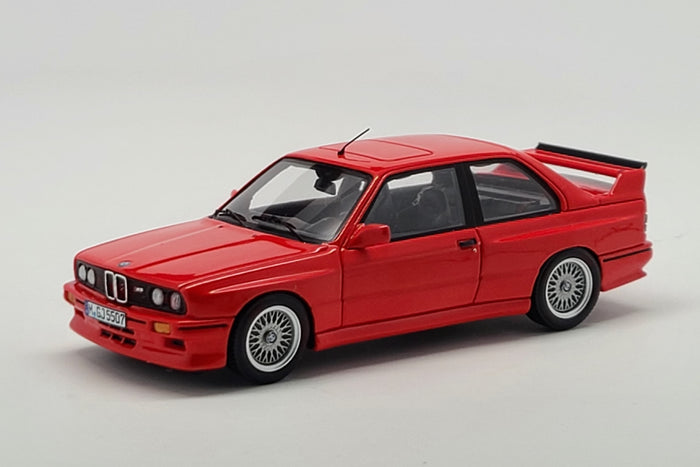 BMW M3 Sport Evolution (1990) | 1:43 Scale Model Car by Spark | Red Variant Front Quarter