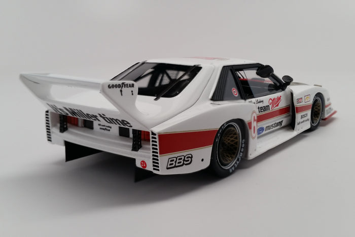 Ford Mustang GTX (1981 Brainerd 200km) | 1:43 Scale Model Car by Spark | Rear Quarter