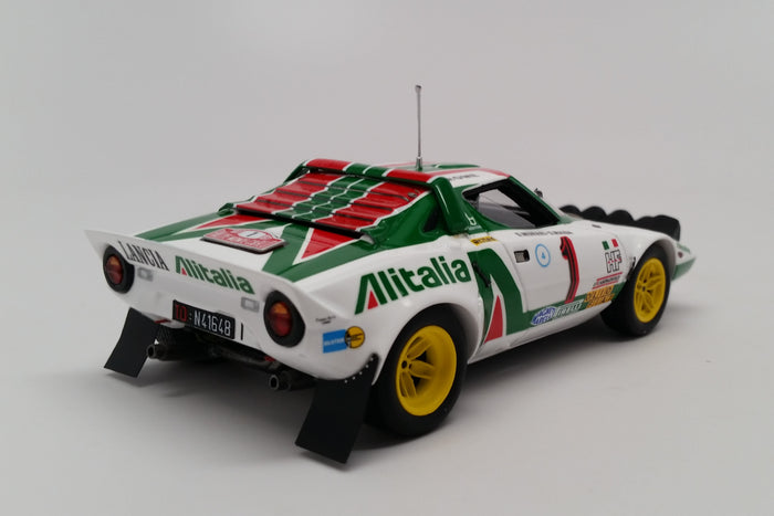 Lancia Stratos HF (1977 Rally Monte Carlo) | 1:43 Scale Model Car by Spark | Rear Quarter