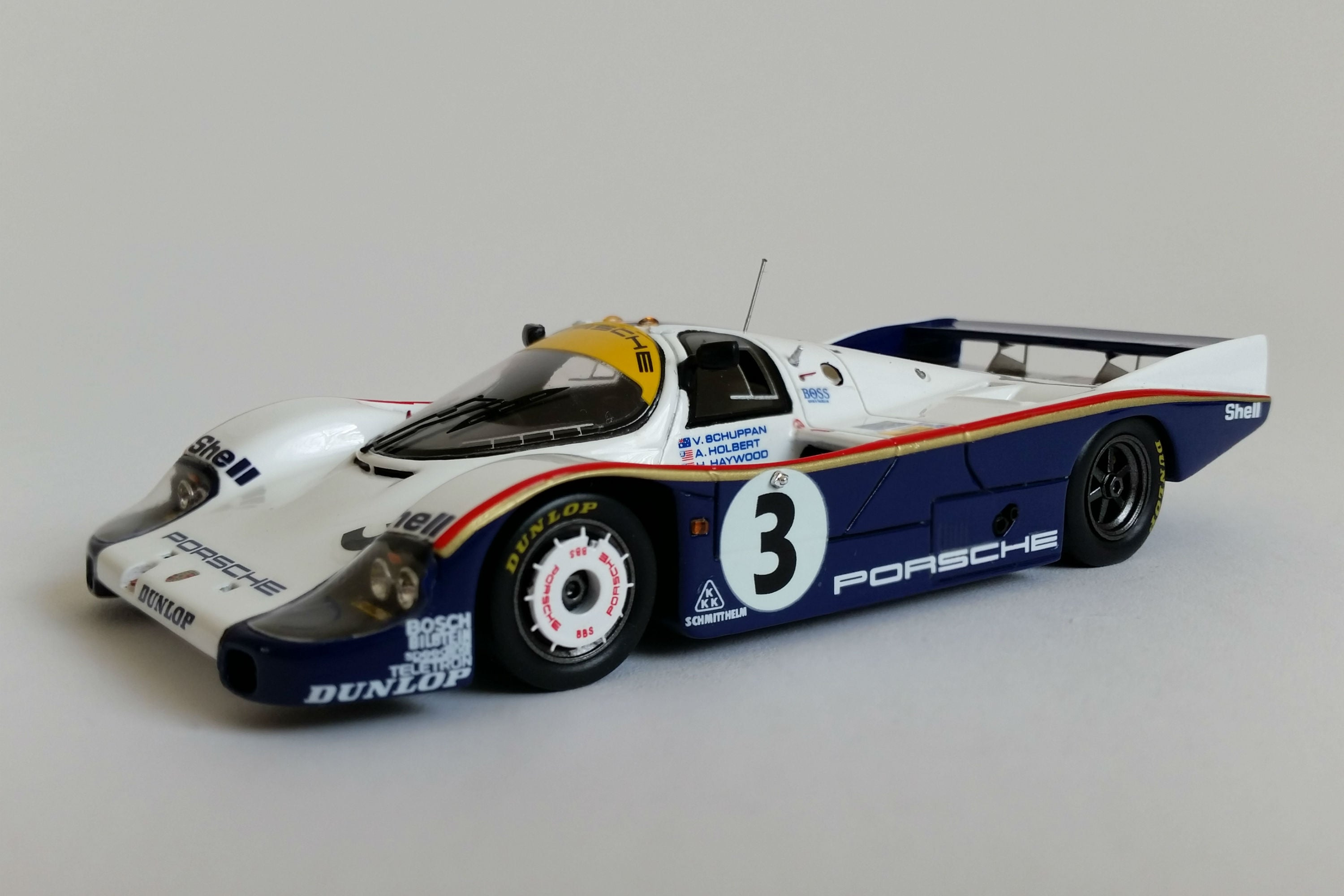 Porsche 956 (1983 Le Mans Winner) | 1:43 Scale Model Car by Spark | Front Quarter