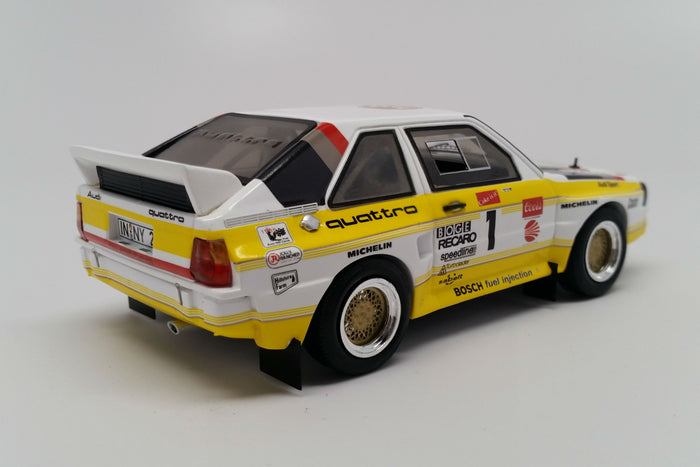 Audi Sport Quattro S1 (1985 Pikes Peak) | 1:43 Scale Model Car by Spark| Rear Quarter