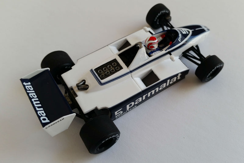 Brabham BT49 N. Piquet 1980 USGP West | 1:43 Scale Model Car by Spark | Overhead