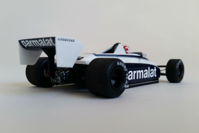Brabham BT49 N. Piquet 1980 USGP West | 1:43 Scale Model Car by Spark | Rear Quarter