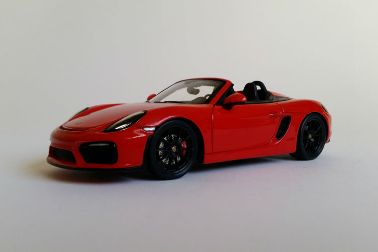 Porsche Boxster Spyder (2015) - 1:43 Scale Model Car
