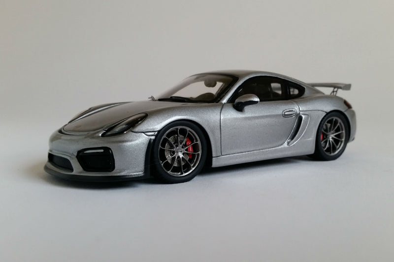 Porsche Cayman GT4 (2016) | 1:43 Scale Model Car by Spark | Front Quarter