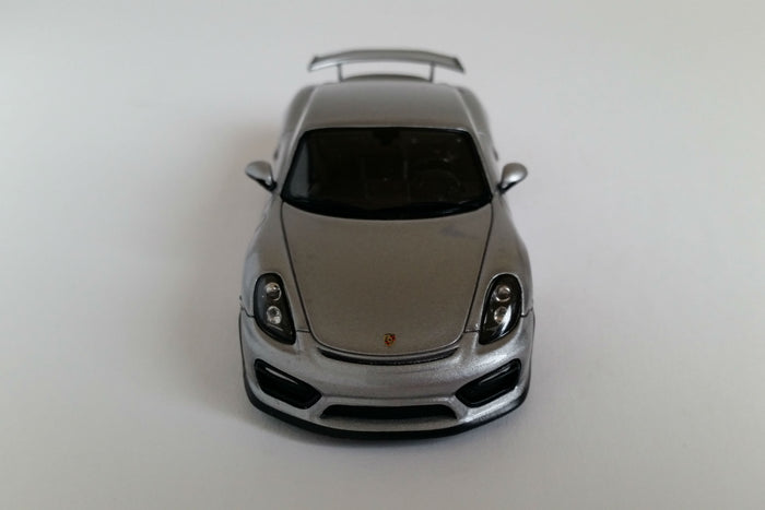 Porsche Cayman GT4 (2016) | 1:43 Scale Model Car by Spark | Front Overhead