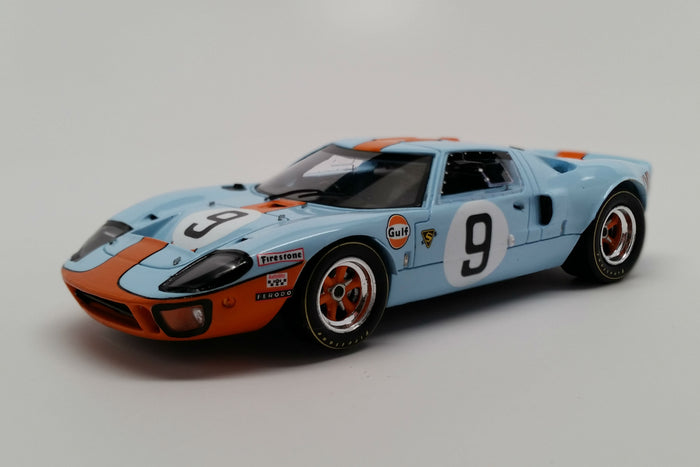 Ford GT40 (1968 Le Mans Winner) | 1:43 Scale Model Car by Spark | Front Quarter