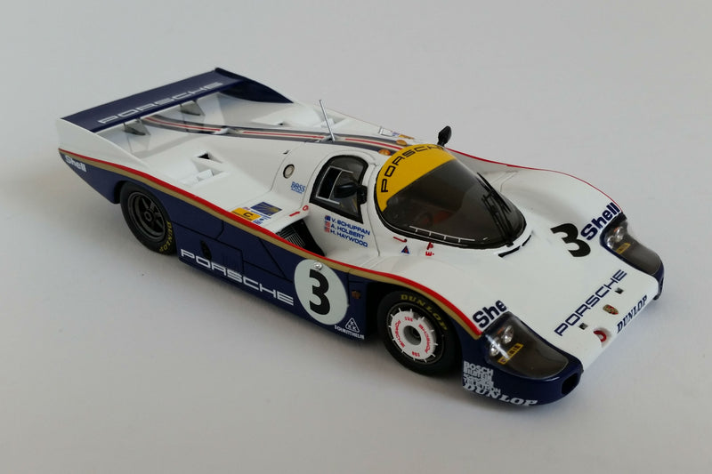 Porsche 956 (1983 Le Mans Winner) | 1:43 Scale Model Car by Spark | Overhead