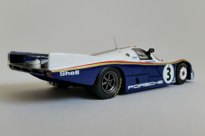 Porsche 956 (1983 Le Mans Winner) | 1:43 Scale Model Car by Spark | Rear Quarter