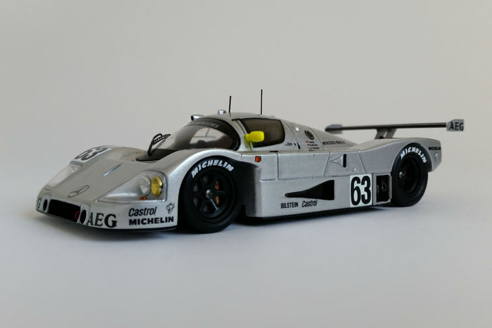 Sauber-Mercedes C9 1989 24 Hours of Le Mans Winner | 1:43 Scale Model Car by Spark | Front Quarter