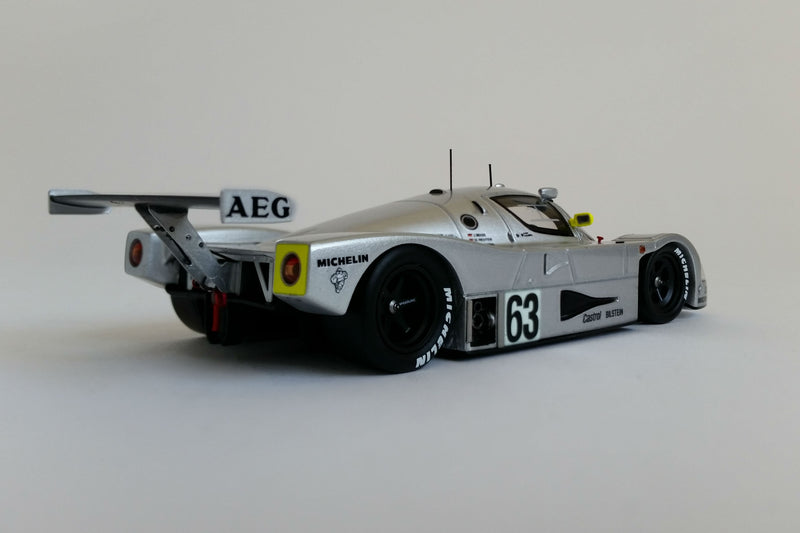 Sauber-Mercedes C9 1989 24 Hours of Le Mans Winner | 1:43 Scale Model Car by Spark | Rear Quarter