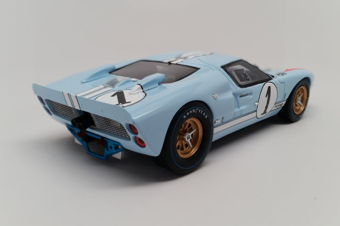 Ford Mk. II (1966 Le Mans - Ken Miles) | 1:43 Scale Model Car by Spark | Rear Quarter