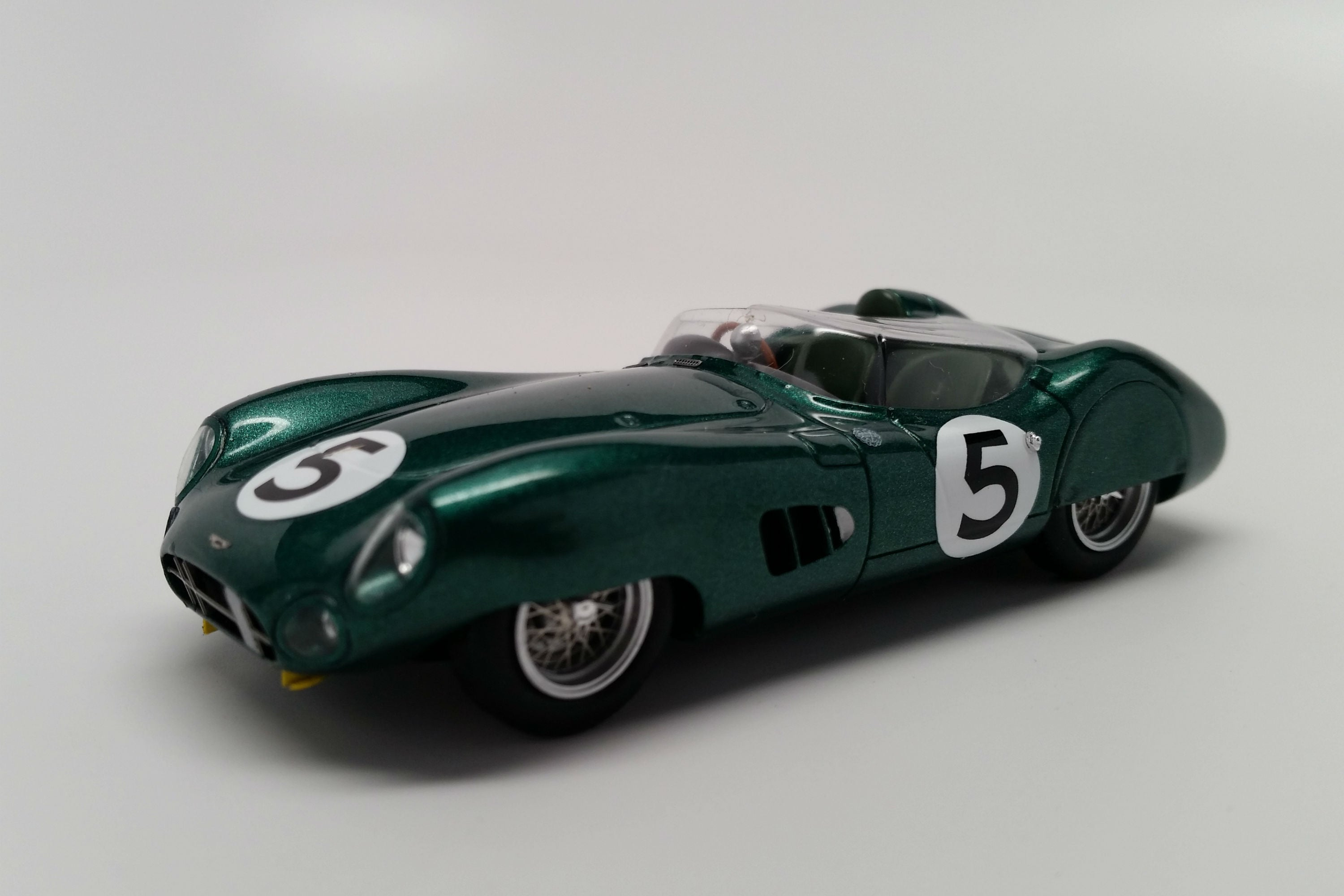 Aston Martin DBR1 (1959 Le Mans Winner) | 1:43 Scale Model Car by Spark | Front Quarter