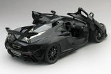 McLaren P1 Amethyst Black | 1:18 Scale Diecast Model Car by TSM | Rear Open