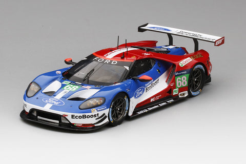 Ford GT LM GTE Pro 2016 Le Mans Class Winner | 1:43 Scale Model Car by TSM | Front Quarter