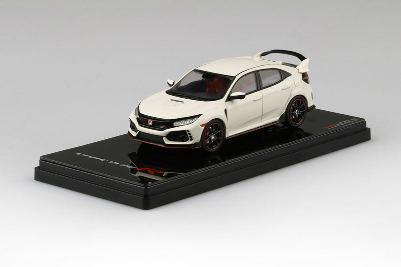 Honda Civic Type R (2017) | 1:43 Scale Diecast Model Car by TSM | Display Base