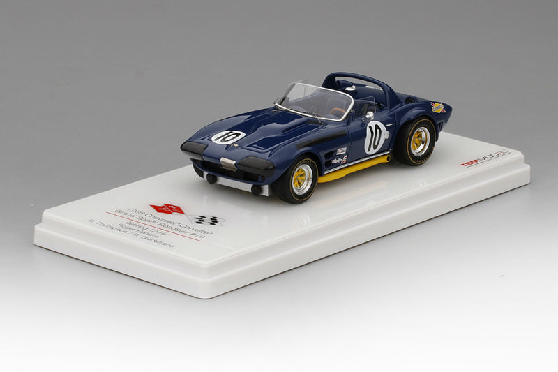 Chevrolet Corvette Grand Sport Roadster (1966 12 Hours of Sebring) | 1:43 Scale Model Car by TSM | Base