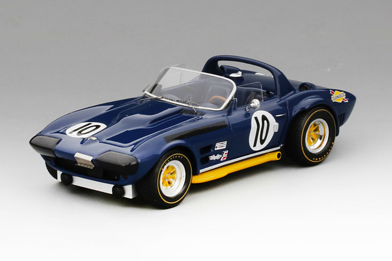 Chevrolet Corvette Grand Sport Roadster (1966 12 Hours of Sebring) | 1:43 Scale Model Car by TSM | Front Quarter