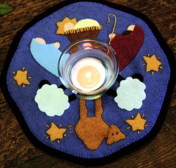 Little Stitchies - Nativity Candle Mat