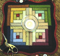 Little Stitchies - Log Cabin Block Candle Mat