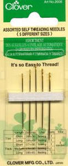 Clover Self Threading Needles Assorted