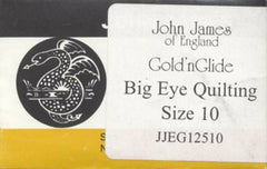 John James Gold'N Glide Big Eye Between / Quilting