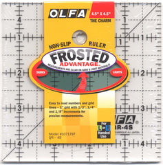Frosted Acrylic Olfa Ruler 4-1/2 x 4-1/2 - The Charm