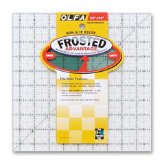 Frosted Acrylic Olfa Ruler 9-1/2in x 9-1/2in The Alternative