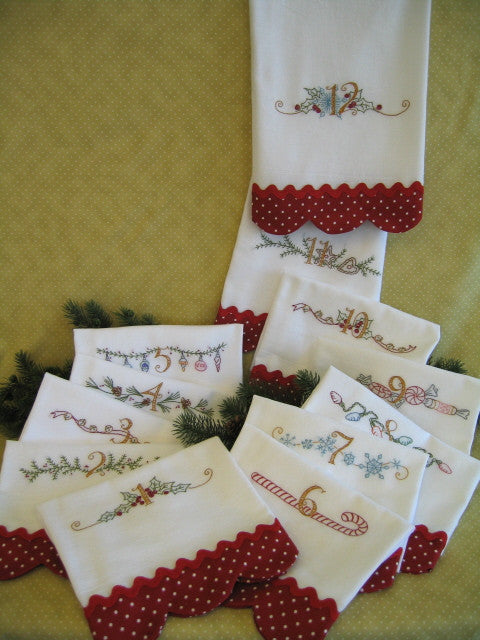 Twelve Days of Christmas Tea Towels