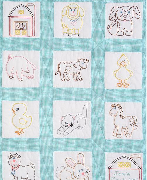 Quilt Block Set Farm Animals