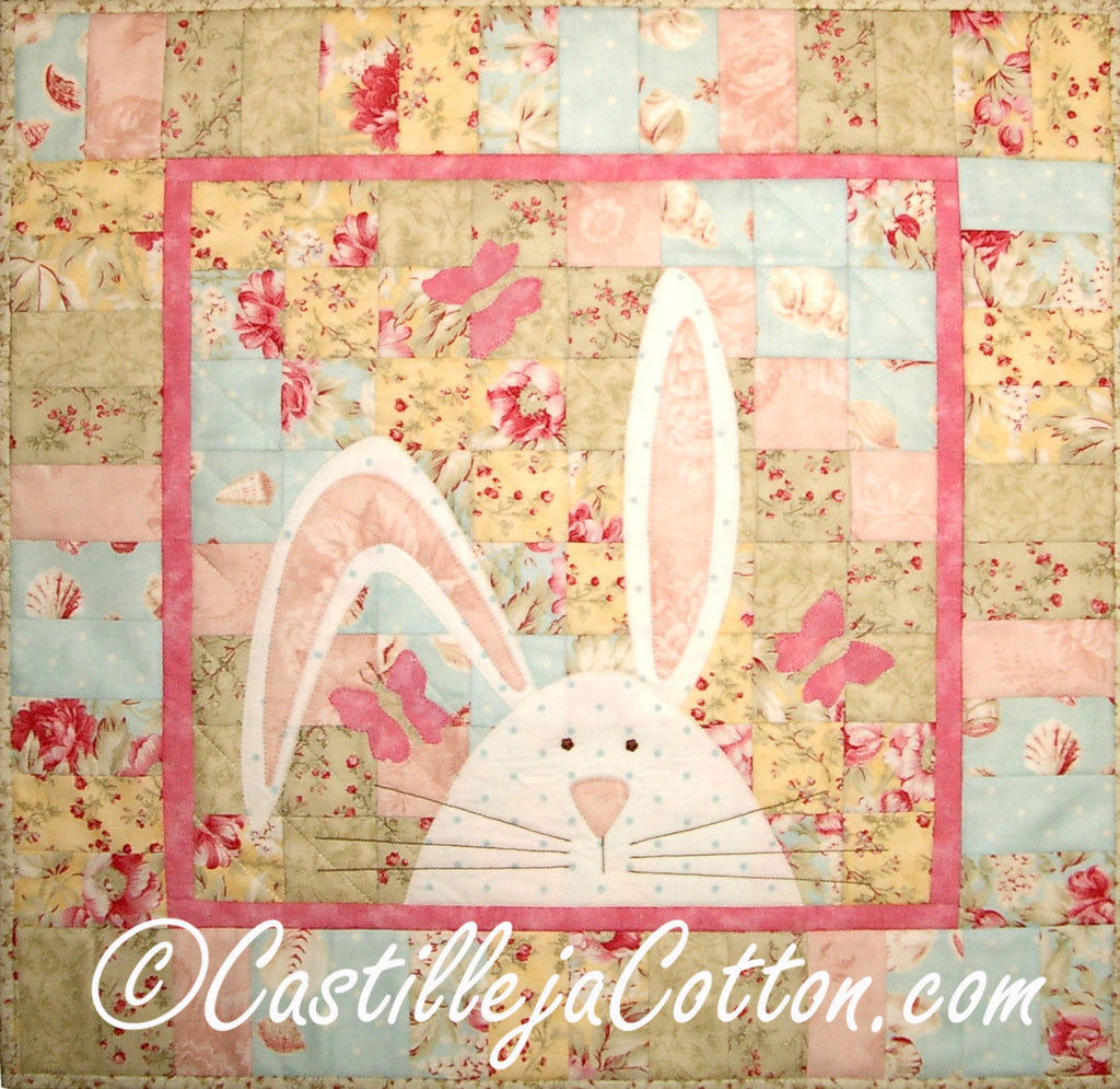 Bargello Bunny with Butterflies