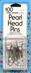 Pearl Head Pin Size 24 - 1 1/2in 100ct White