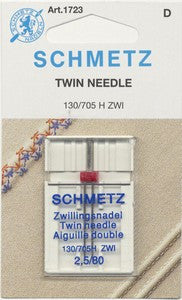 Schmetz Twin Machine Needle Size 2.5mm/80 1ct