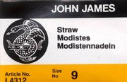 John James Milliners / Straw Uncarded Needles 25ct