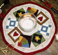 Little Stitchies - Quilt Block Candle Mat