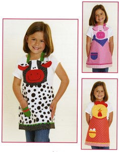 Farm Friends Child\'s Apron Cow, Pig & Chicken