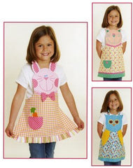 Fun Friends Child's Apron Bunny, Cat & Owl