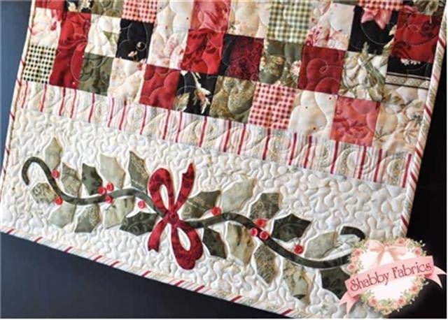 Christmas Table Runner Quilt.Enchanted Holiday Table Runner