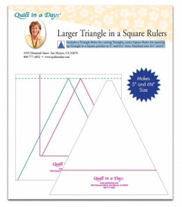 Larger Triangle in a Square Rulers