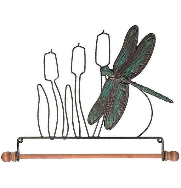 7-1/2in Dragonfly Fabric Holder