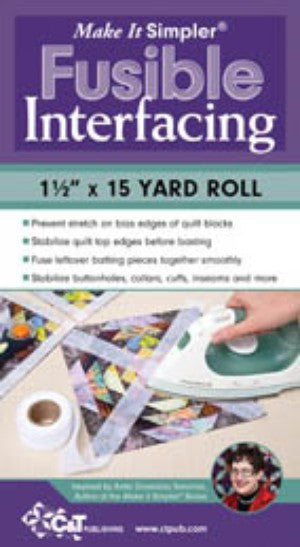 Make It Simpler Fusible Interfacing 1-1/2in x 15yd
