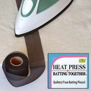 Heat Press Batting Together 1 1/2in x 10yds Black
