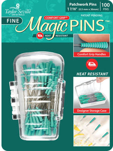 Tailor Mate Magic Fine Pins Patchwork 100pc