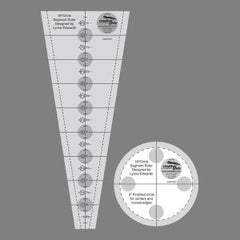Creative Grids Non Slip 18 Degree Dresden Plate Ruler 3 1/2in