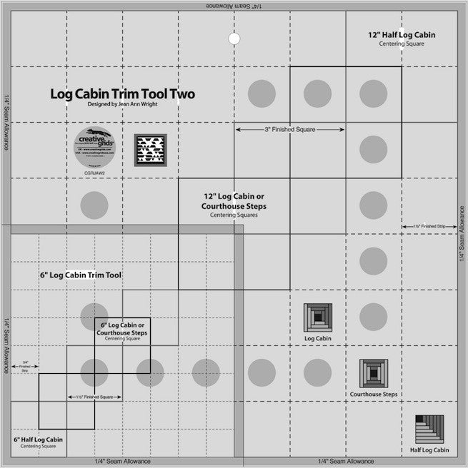 Creative Grids Log Cabin Trim Tool Two