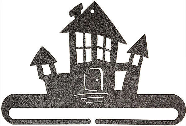 6in Haunted House Split Bottom Charcoal