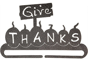 6in Give Thanks  Split Bottom Charcoal
