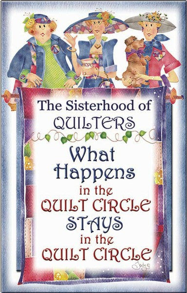 Sisterhood of Quilters Magnets - Circle