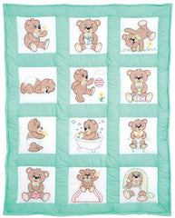 Nursery Quilt Block Teddy Bear